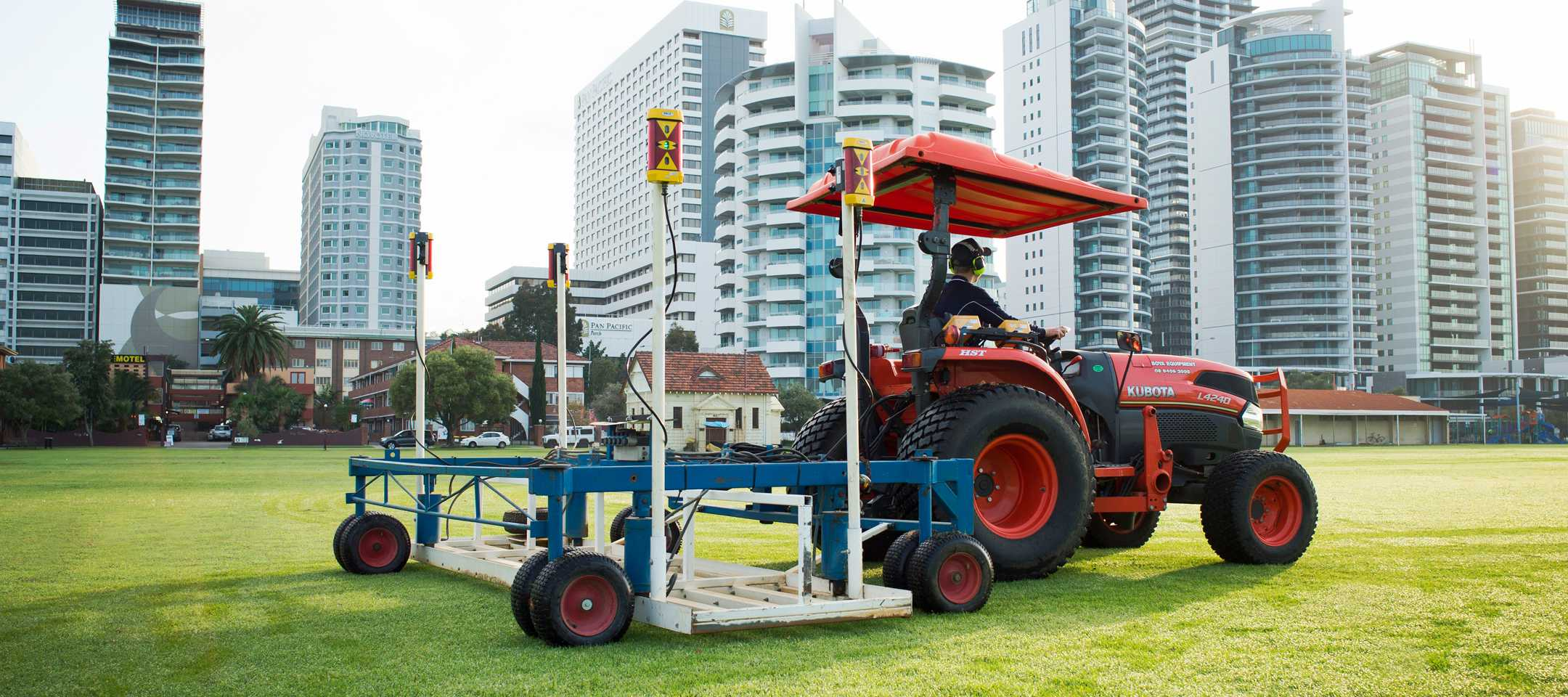 Levelling at Langley Park